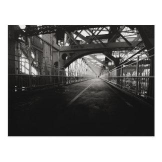 Arquitectura del puente de Williamsburg - New York Tarjeta Postal