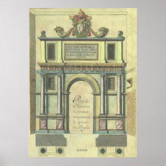 Arquitectura del renacimiento de la entrada de póster