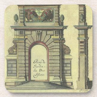 Arquitectura del renacimiento del vintage, arco de posavaso