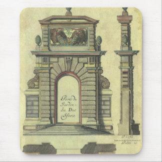 Arquitectura del renacimiento del vintage, arco de tapete de raton