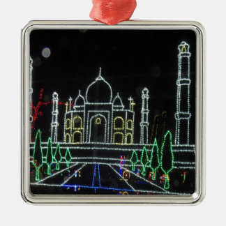 Arquitectura del Taj Mahal el Taj Mahal Mughal Adorno Cuadrado Plateado