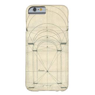 Arquitectura del vintage, arcos Perspecitve Funda De iPhone 6 Barely There