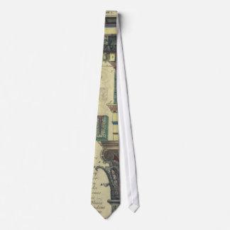 Arquitectura del vintage, columna con el moldeado corbatas