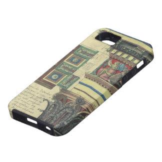 Arquitectura del vintage, columna con el moldeado funda para iPhone SE/5/5s