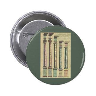 Arquitectura del vintage las 5 órdenes arquitectó pin