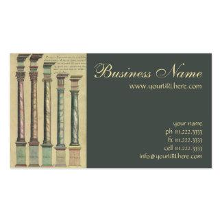 Arquitectura del vintage, las 5 órdenes tarjetas de visita
