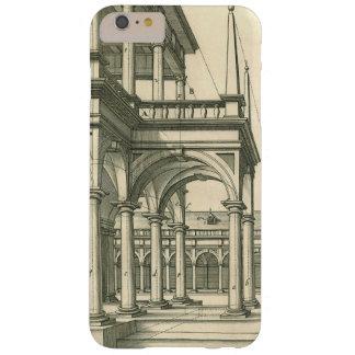Arquitectura del vintage, patio romano con las funda barely there iPhone 6 plus
