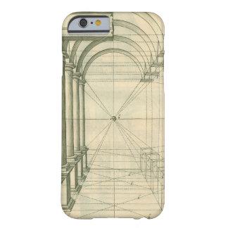 Arquitectura del vintage, perspectiva de los arcos funda para iPhone 6 barely there