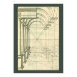 Arquitectura del vintage, perspectiva de los arcos anuncios