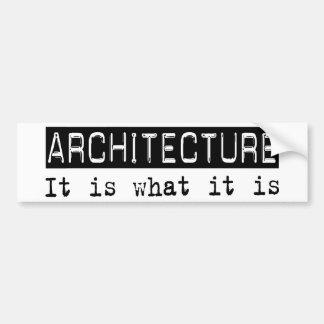 Arquitectura es pegatina de parachoque