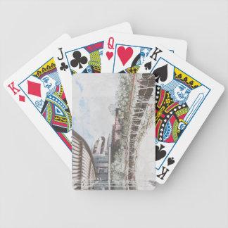 Arquitectura escénica de la ladera cartas de juego