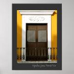 Arquitectura española amarilla Windows de Puerto Póster