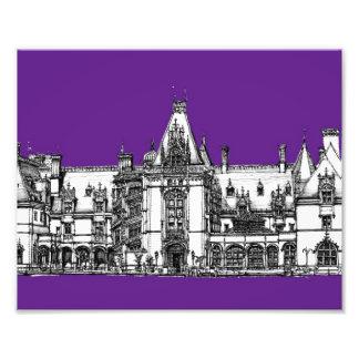 Arquitectura gótica en púrpura fotografias