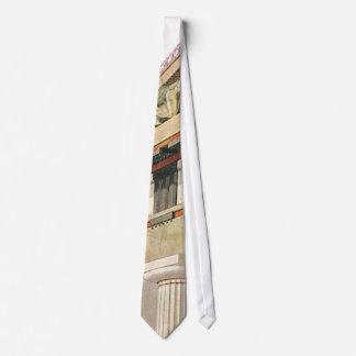 Arquitectura griega del vintage, templo de Athena Corbatas Personalizadas