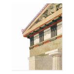 Arquitectura griega del vintage, templo de Athena Postal