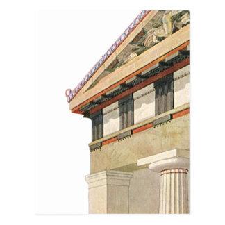 Arquitectura griega del vintage, templo de Athena Tarjeta Postal