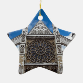 Arquitectura inglesa adorno navideño de cerámica en forma de estrella