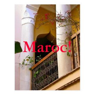 arquitectura marroquí postal