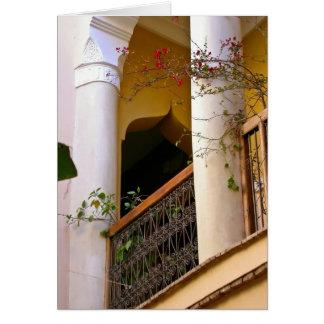 arquitectura marroquí tarjeta de felicitación