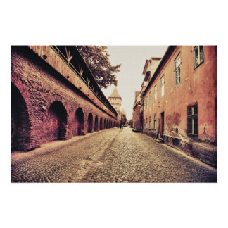 Arquitectura medieval de Sibiu Póster