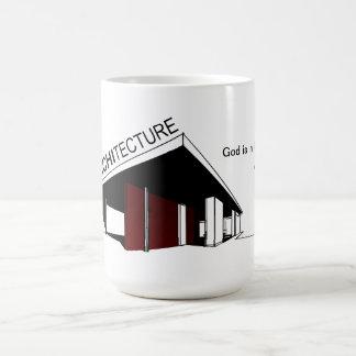 Arquitectura: Mies van der Rohe Taza Básica Blanca