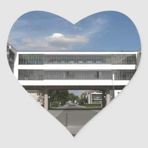 Arquitectura moderna Dessau Alemania Berlín del su Calcomania De Corazon