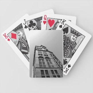 Arquitectura - negro y blanco baraja cartas de poker