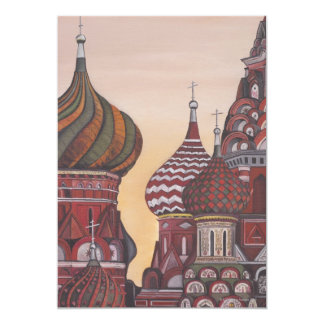 """Arquitectura rusa invitación 5"""" x 7"""""""