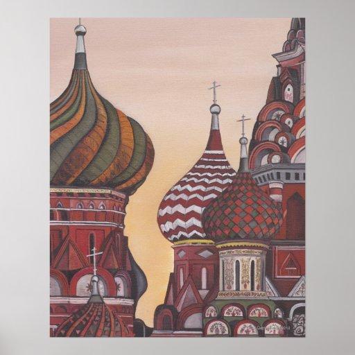 Arquitectura rusa póster
