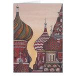 Arquitectura rusa tarjeta de felicitación