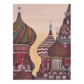 Arquitectura rusa tarjeta postal