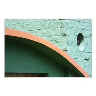 Arquitectura urbana en color verde fotografía