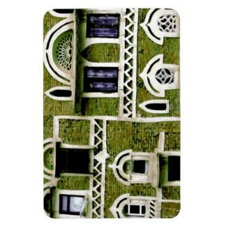 Arquitectura verde de la fachada iman rectangular