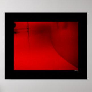Arquitectura - vestíbulo rojo póster