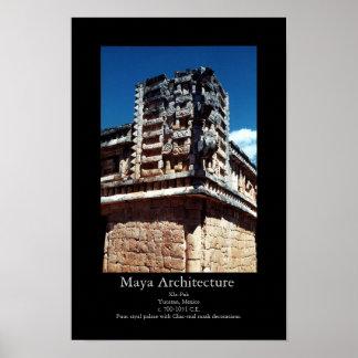 Arquitectura Xla-Pak del maya Póster