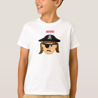 Arr Cute Girl Pirate T Shirt for Kids