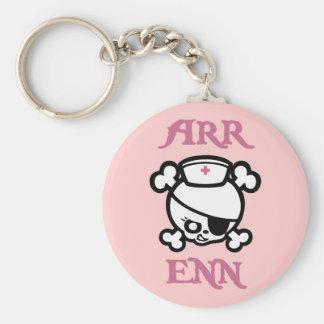 Arr Enn Basic Round Button Keychain