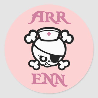 Arr Enn Classic Round Sticker