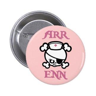 Arr Enn Nurse Skull Pin