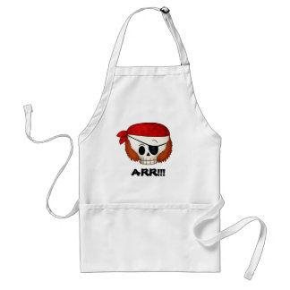 Arr Old School Pirate Skull Aprons