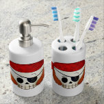 Arr Old School Pirate Skull Bath Accessory Sets