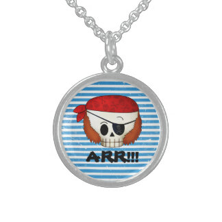 Arr Old School Pirate Skull Necklaces