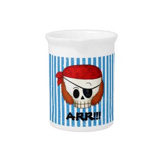 Arr Old School Pirate Skull Pitcher