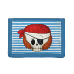 Arr Old School Pirate Skull Trifold Wallets