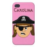 Arr Pirate Girl Cute Customizable Custom Name iPhone 4/4S Cover