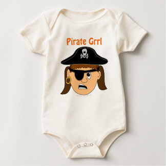 Arr Pirate Girl Cute Customizable Kid Pirate Stuff Baby Bodysuit