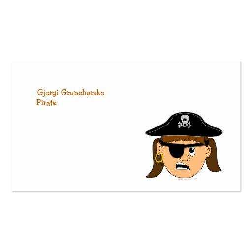 Arr Pirate Girl Cute Customizable Kid Pirate Stuff Business Card Templates
