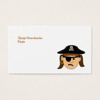 Arr Pirate Girl Cute Customizable Kid Pirate Stuff Business Card