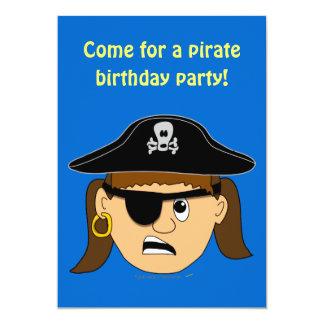 Arr Pirate Girl Cute Customizable Kid Pirate Stuff Card