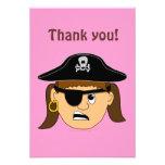 Arr Pirate Girl Cute Customizable Kid Pirate Stuff Personalized Invitation